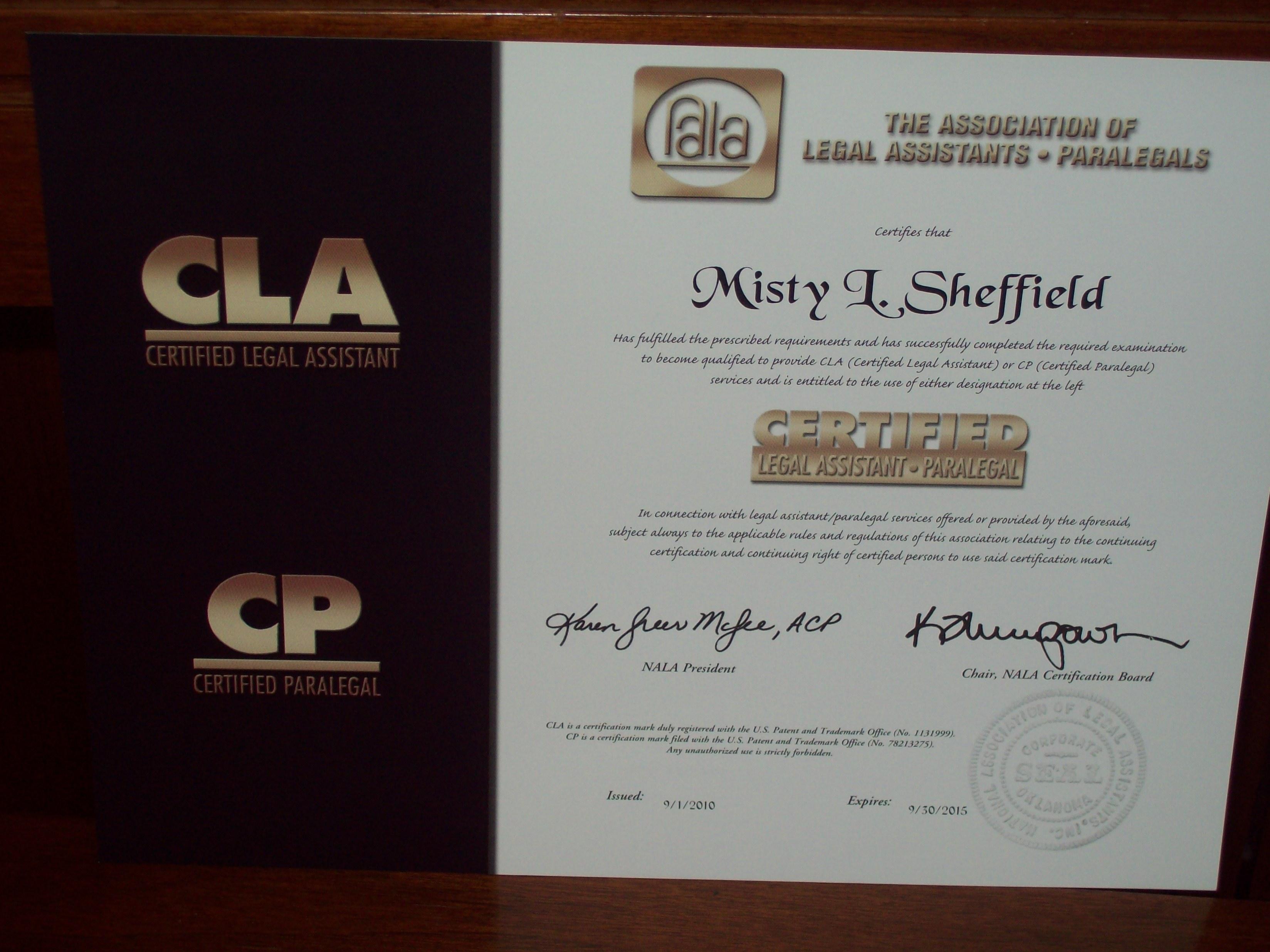 More on CLA/CP Exam | Atlanta Paralegal Services